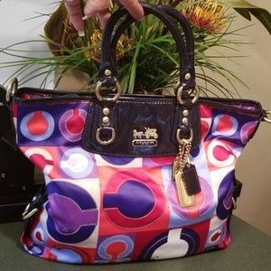 Coach 13253 Madison Graphic Op Art Julianne Bag